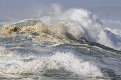 Ausführliche Spitze einer brechenden Welle Lizenzfreie Stockbilder