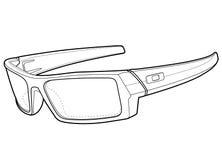 Ausführliche Sun-Gläser Lizenzfreies Stockbild