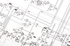 Ausführliche technische Zeichnung Lizenzfreies Stockbild