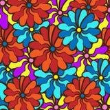 Ausführliche vektorzeichnung Feld des multi farbigen hellen Sommers färbt f Stockbilder