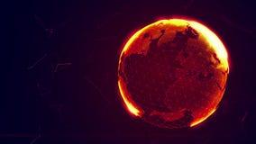 Ausführliche virtuelle Planet Erde Stockbild
