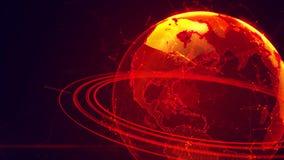 Ausführliche virtuelle Planet Erde Lizenzfreies Stockbild