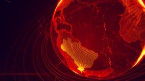 Ausführliche virtuelle Planet Erde Stockfoto