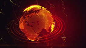 Ausführliche virtuelle Planet Erde stock abbildung