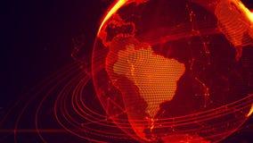 Ausführliche virtuelle Planet Erde Lizenzfreie Stockfotografie