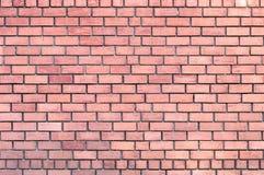 Ausführliche Wandbeschaffenheit des roten Backsteins Lizenzfreies Stockbild