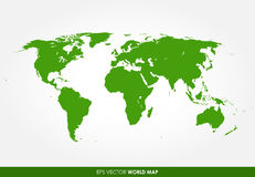 Ausführliche Weltkarte Lizenzfreie Stockfotografie