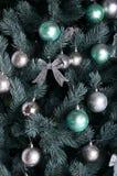 Ausführliches Foto des Weihnachtsbaums Stockfotos