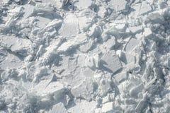 Ausführliches Foto von gefrorenem St Lawrence River in Montreal, mit cru Lizenzfreie Stockfotografie