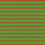 Ausführliches gestricktes gestreiftes rot-und-grünes Muster Stockfotos