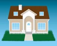 Ausführliches Haus mit Gras Stockbild