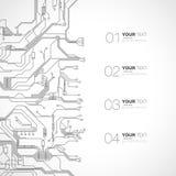 Ausführliches Leiterplatte-Design Stockbild