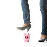 Ausführung der Piggy Querneigung lizenzfreie stockfotos
