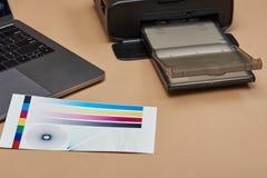 Ausführung des Farbdruckertests lizenzfreies stockfoto