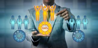 Ausführungsarbeits-Team Stunden-Manager-Choosing The Tops stockbilder