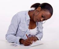 Ausfüllen eine Form Lizenzfreies Stockfoto