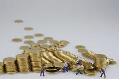 Ausfall der Münze und der Miniatur stockfotos