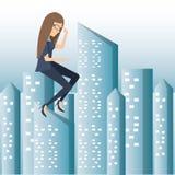AusfallGeschäftsfraukarikatur lizenzfreie abbildung