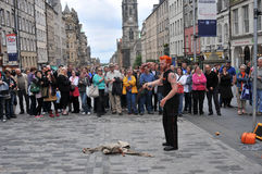 Ausführende an Edinburgh-Festival Lizenzfreies Stockbild
