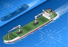 Isometrisches Frachtschiff Lizenzfreie Stockfotos