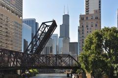 Ausflug entlang dem Chicago River, Illinois Stockfotografie