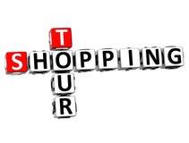 Ausflug-Kreuzworträtsel des Einkaufen3d Stockfoto