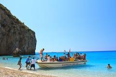 Ausflugboot in Griechenland Lizenzfreie Stockbilder