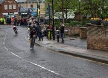 Ausflugdes Yorkshire der Frauen Radfahrenrennen stockfotos