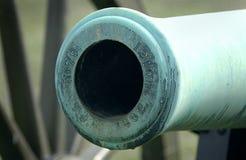 Ausflussöffnung der Bürgerkrieg-Kanone Stockfoto