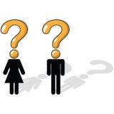 Ausfragen, Ungewissheit, ungewiß Stockbilder