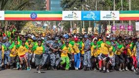 13. Ausgabe des großen äthiopischen Laufs Stockfotos