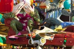 140. Ausgabe des Karnevals von Viareggio Lizenzfreie Stockfotos