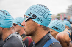 Ausgabe 2013, Nizza, Frankreich Ironman Stockbild