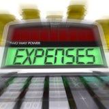 Ausgaben berechnete Show-Unkosten und Buchhaltung lizenzfreie abbildung