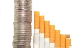 Ausgaben-Münzen Lizenzfreies Stockbild