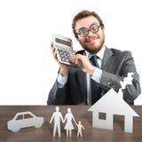 Ausgabenfamilie Stockfotos