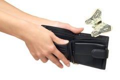 Ausgabengeld oder aus Geldkonzept heraus Stockbild