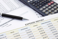 Ausgabenmanagement und -bericht Stockbilder