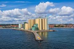 Ausgang des Hafens von Ystad Lizenzfreies Stockbild
