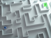 Ausgang des Labyrinths Stockfotografie