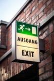 Ausgang/exit Stock Images