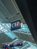 Ausgang, internationaler Flughafen Portlands Stockfotos