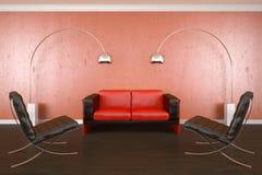 Ausgangsinnenraum mit Sofa Stockfotos