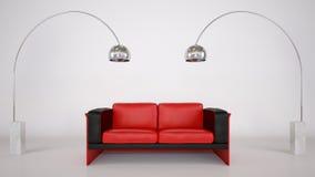 Ausgangsinnenraum mit Sofa Stockfotografie