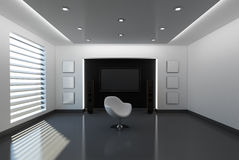Ausgangsinnenraum mit Sofa Lizenzfreies Stockfoto