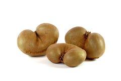 Ausgangsmaske der köstlichen Kiwi drei auf Weiß Lizenzfreie Stockfotografie