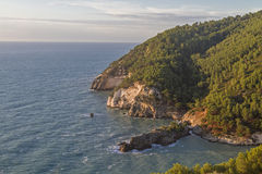 Ausgangssprache: Baskisch Gargano coast Stock Photography