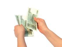Ausgeben des Geldes Lizenzfreies Stockbild
