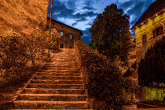Ausgeblutete Schlosstreppe Lizenzfreie Stockfotos
