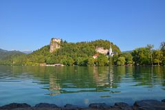 Ausgeblutetes Schloss Stockbild